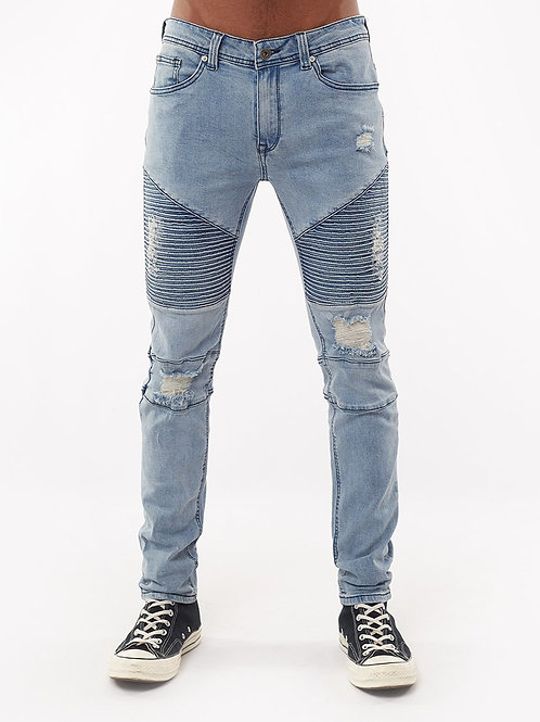 Silent Theory Strung Out Moto Jean Blue