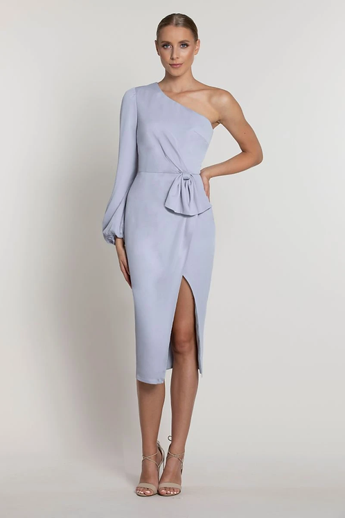 Lumier By Bariano Hope One Sleeve Bow Dress