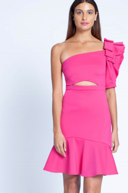 Honey & Beau Vida One Shoulder Dress