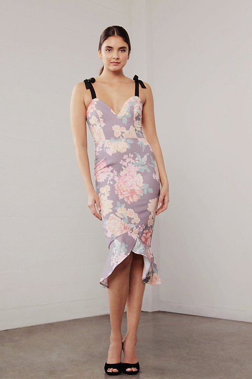 Shilla The Label Utopia Mocha Floral Dress