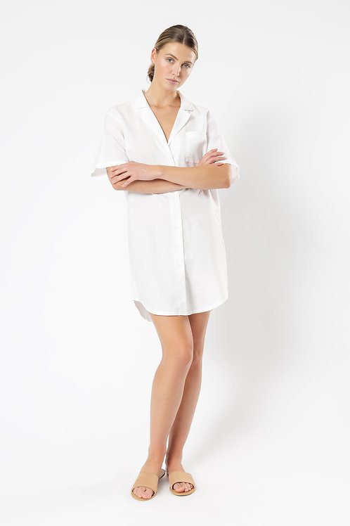 Nude Lucy Ezra Linen Shirt Dress