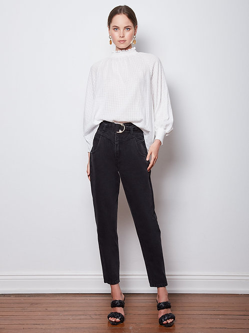 Wish The Label String Along Shirred Blouse