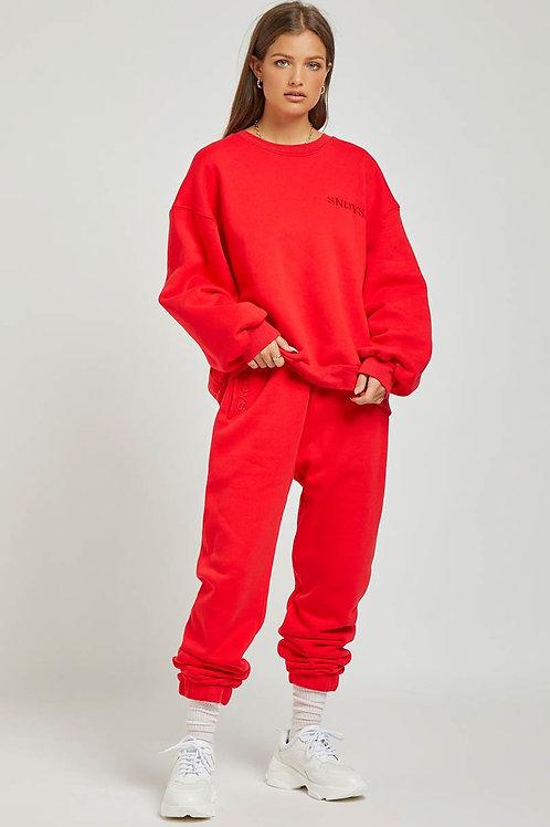 Sundays The Label Flix Sweat Pant Red