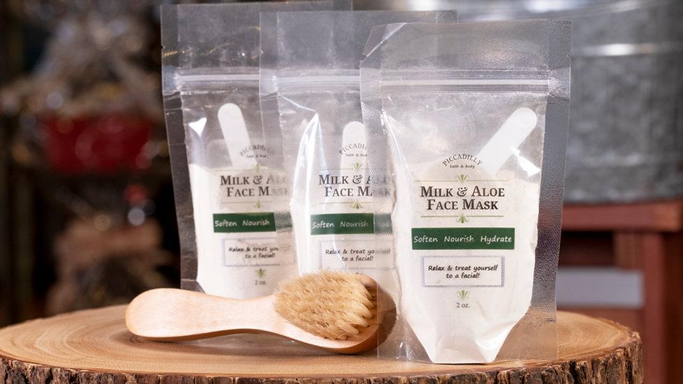 Milk and Aloe Facial Mask