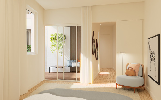 Chambre vers dressing
