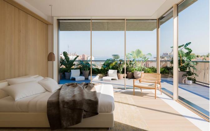 Master suite et ses terrasses