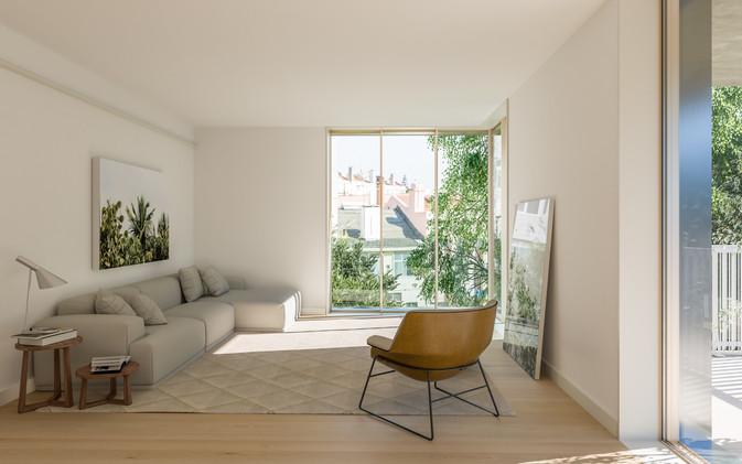 Salon et sa terrasse