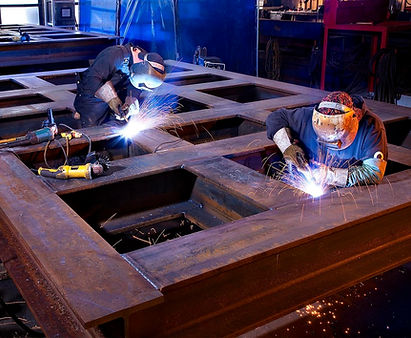 on site welding, structural steel erectors