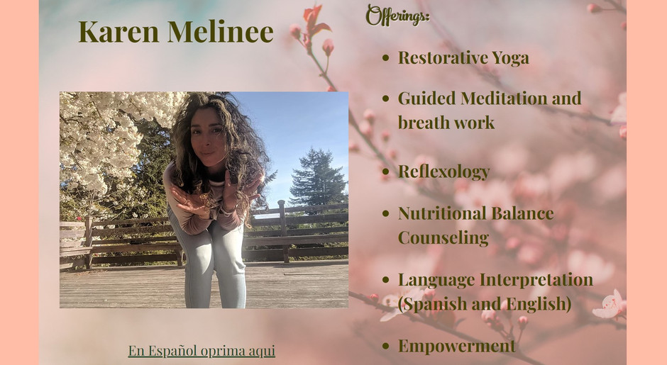 Karen Melinee Invites us To Be and Feel Our Best through Restorative Wellness Practices - Offerings