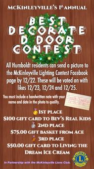 Updated Decorated Door Contest Poster
