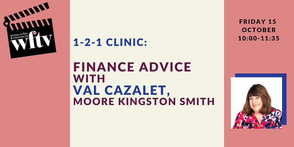 1-2-1 Clinic: Finance Advice with Val Cazalet, Moore Kingston Smith