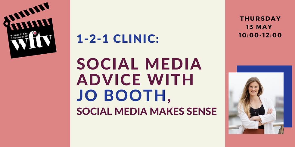 1-2-1 Clinic: Social Media Advice with Jo Booth, Social Media Makes Sense