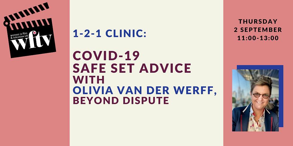 1-2-1 Clinic: Covid-19 Safe Set Advice with Olivia van der Werff
