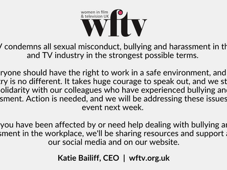 WFTV's statement on sexual misconduct, bullying and harassment in the film and TV industry