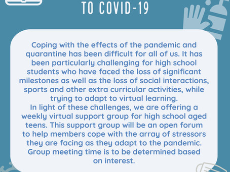 Coping with COVID-Teen Support Group