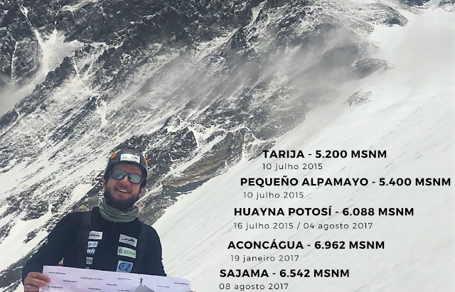 Henrique chega ao cume do Everest