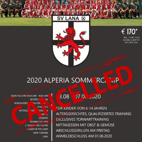 Alperia Sommercamp 2020 abgesagt