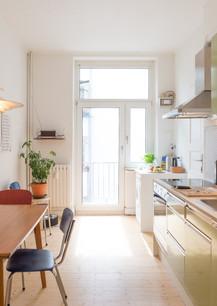 Vintage Küche mit moderner Ausstattung