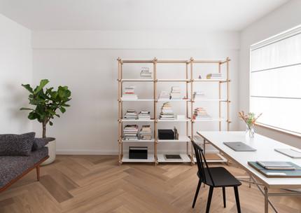 Ruhiges Arbeiten im minimalistischen Homeoffice
