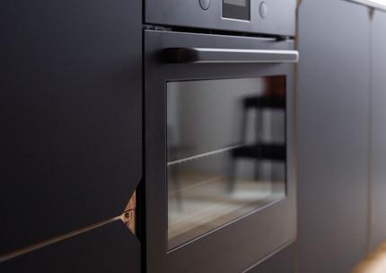 Moderne Küche auf kleinem Raum