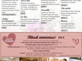 Pour Saint Valentin faites le/la rêver ...Promos :massage,thalasso,soin ici :
