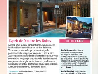 """Esprit de Nature les Bains """"offre Flair"""""""