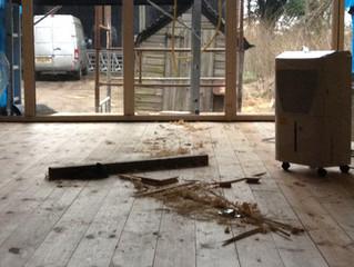 Shepherds Huts Pine Flooring