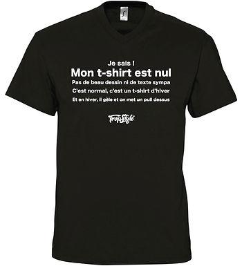 Mon T-shirt est Nul