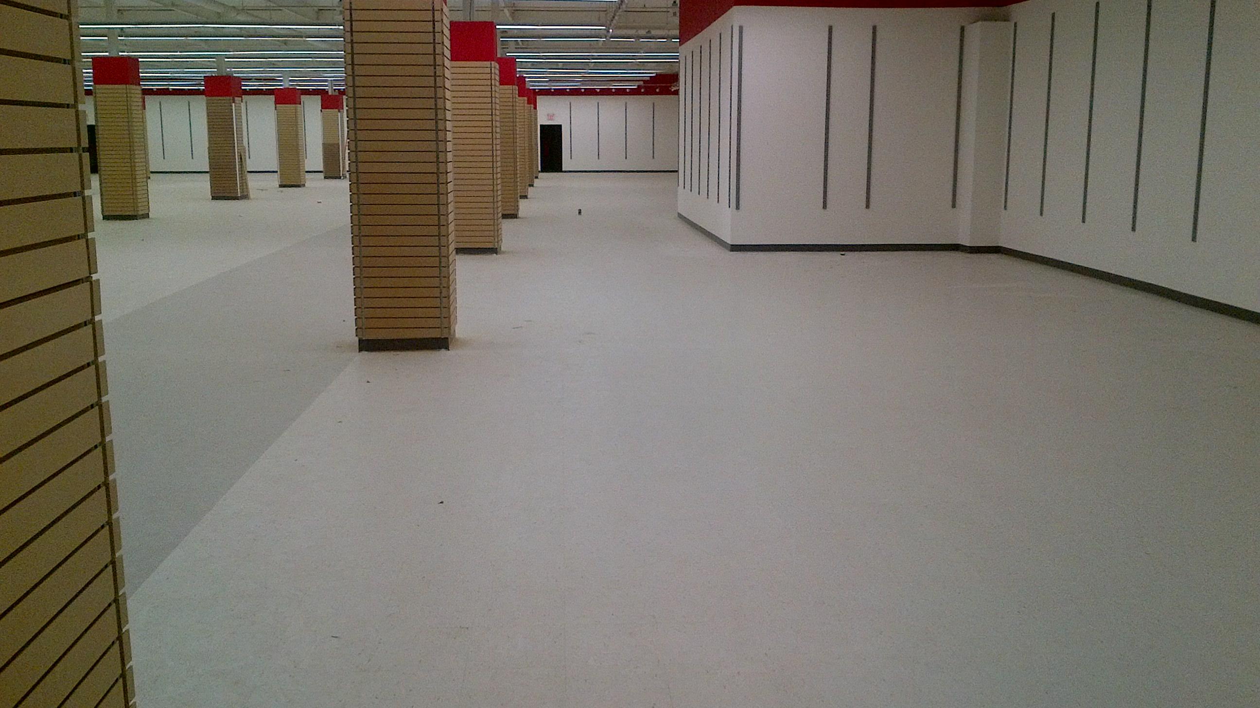 Floor stripped