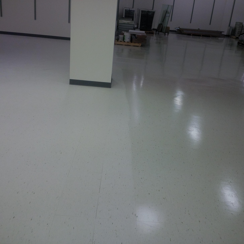 Floor sample with wax