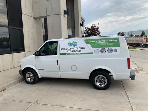 green clean Toronto service truck