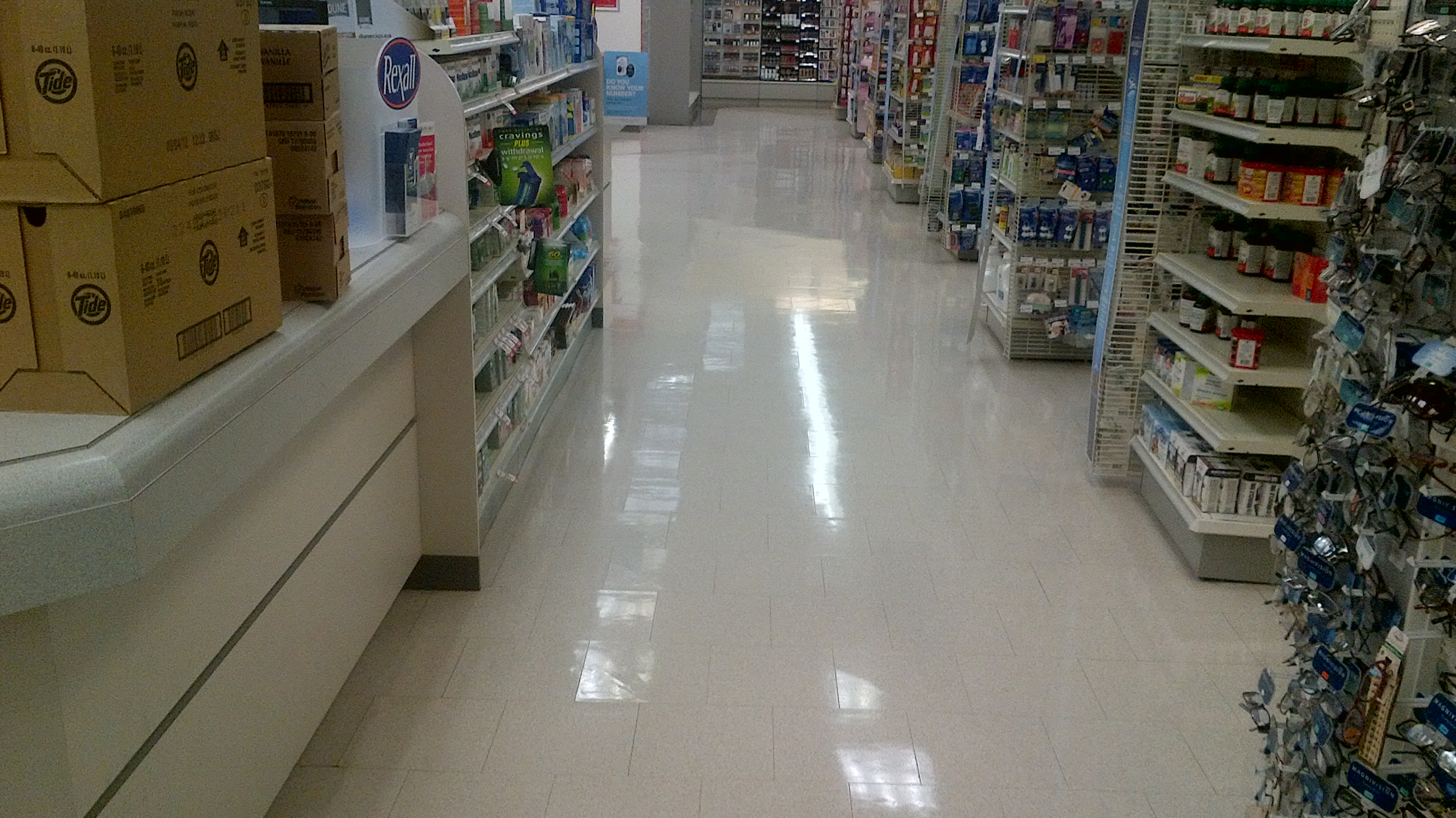 retail store floor stripper and wax