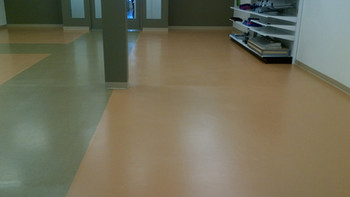 Floor finished  low gloss wax