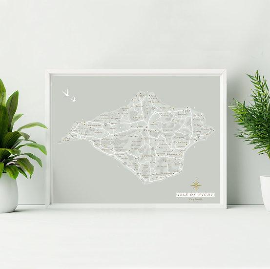 Isle of Wight Wall Map