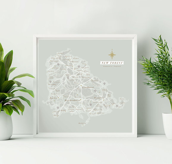 New Forest Wall Map