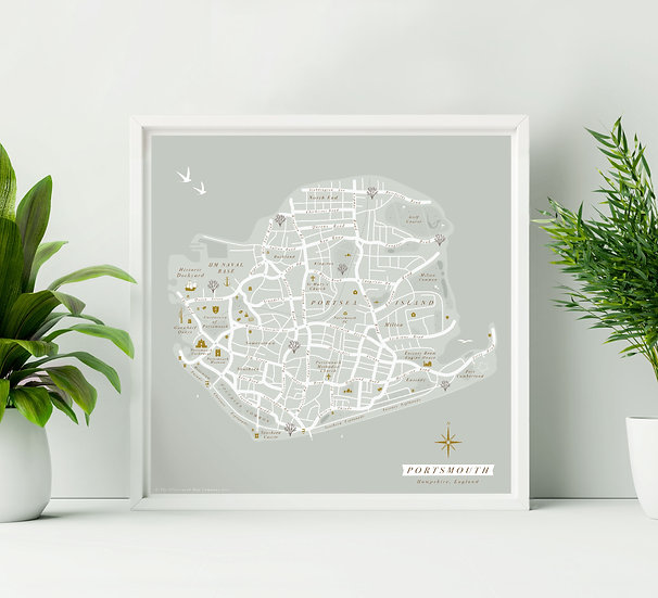 Portsmouth Wall Map