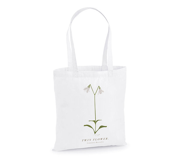 Twin Flower Tote Bag