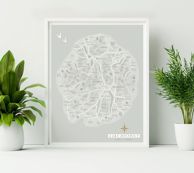 Lake District Illustrated Wall Map