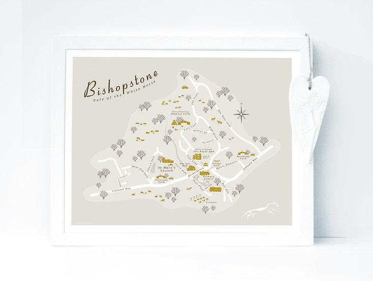 Bishopstone Wall Map