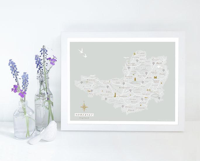 Somerset Wall Map