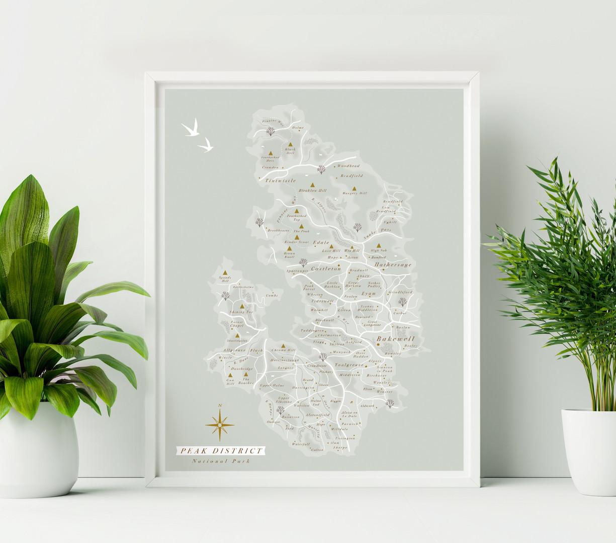 Peak District Wall Map