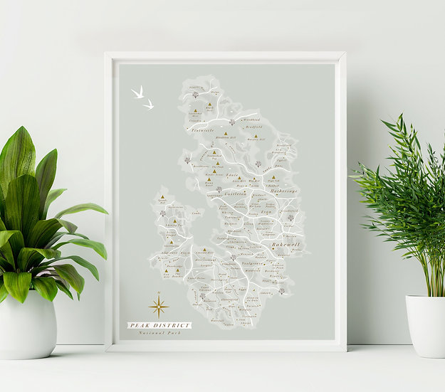 Peak District National Park Wall Map