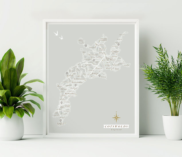Cotswolds Wall Map
