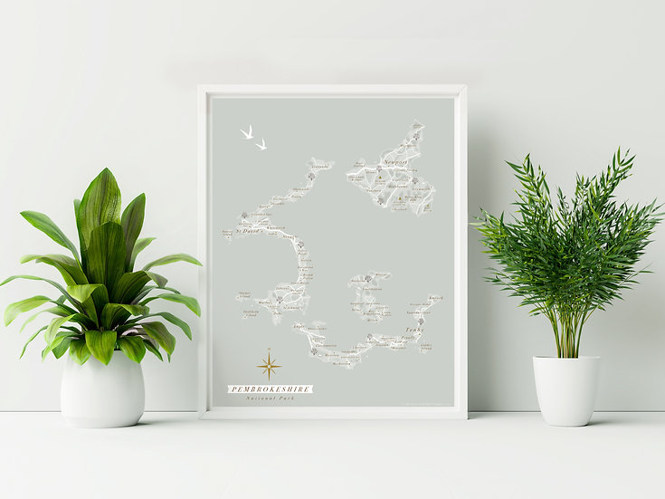 Pembrokeshire Coast National Park Wall Map