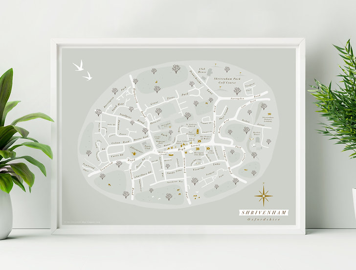 Shrivenham Wall Map