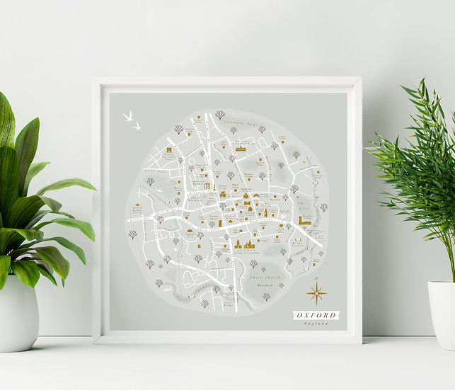 Oxford Wall Map