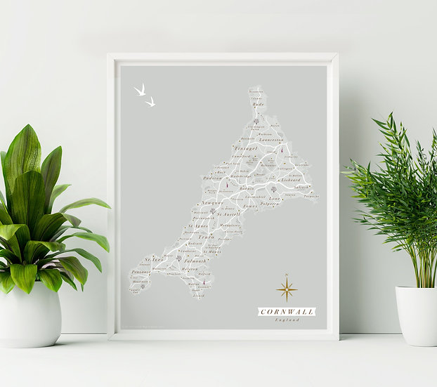 Cornwall Wall Map
