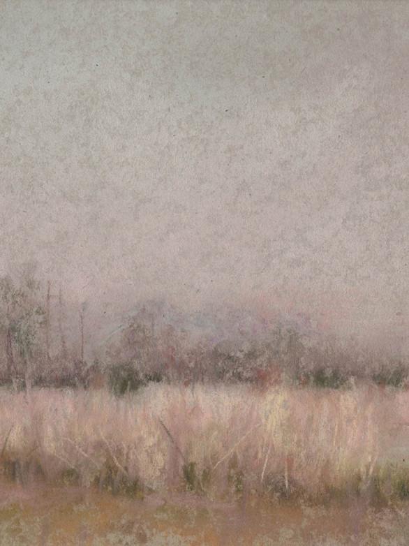 Hiver sans neige Pastel, 19 x 16 cm, janvier 2020