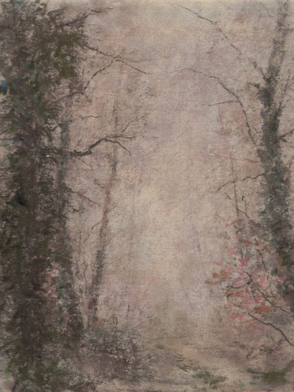 Brouillard à Châtillon Pastel, 20 x 21 cm, février 2018