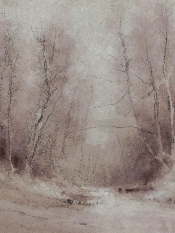 Le gué Lavis, 15 x 13,5 cm, février 2020